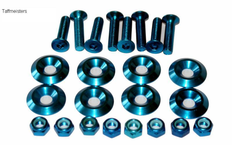 100277 - Anodised Alloy Bolt Set (8) in Blue.