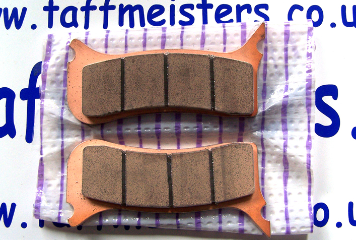 100664 -Front Brake Pads Gold Fren 6 Pot Beringer For FS Models 2004-2005.