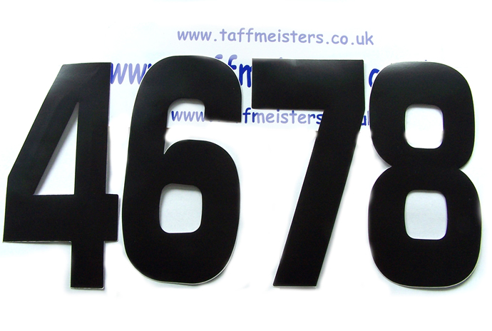 "101124 - 6"" Enduro Race Number In Black."