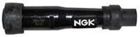 100627 - NGK (SB05F) Spark Plug Cap - Straight Black Plastic 14mm Plug End.