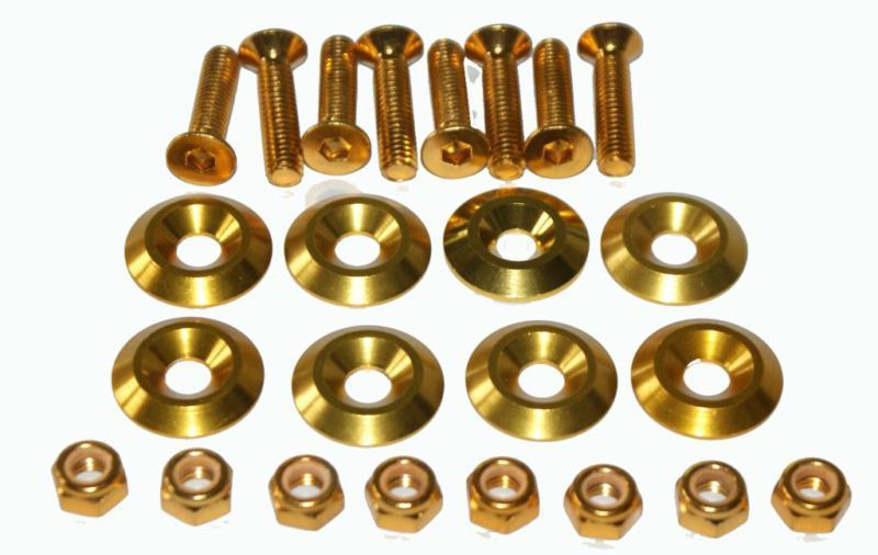 500010- Anodised Alloy Bolt Set (8) Gold